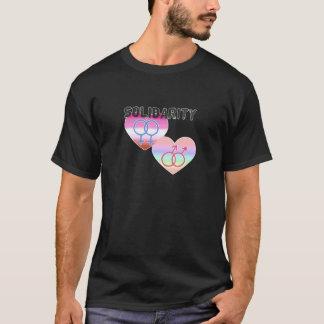Lesbische homosexuelle solidarität T-Shirt