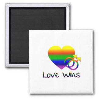 Lesbische Liebe-Gewinne Quadratischer Magnet