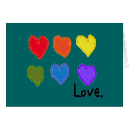 """Lesbische """"Liebe """" Grußkarte"""