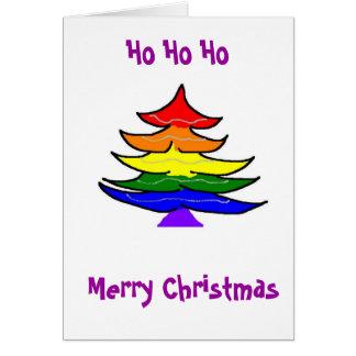 Lesbische Weihnachtskarte Grußkarte