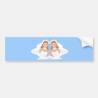 Lesbischer Hochzeits-Aufkleber Autoaufkleber
