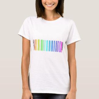 Lesbischer Regenbogen-Barcode T-Shirt