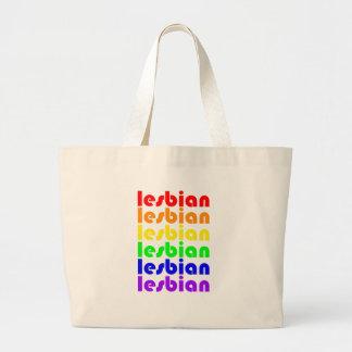 Lesbischer Regenbogen Jumbo Stoffbeutel