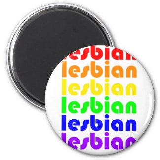 Lesbischer Regenbogen Runder Magnet 5,7 Cm
