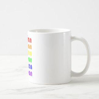 Lesbischer Regenbogen Tasse