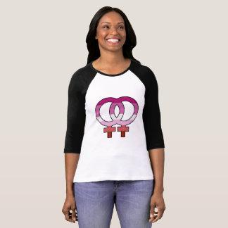 Lesbischer Stolz-Flaggen-Venus-Symbol-Baseball-T - T-Shirt