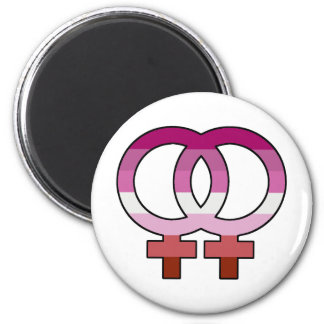 Lesbischer Stolz-Flaggen-Venus-Symbol-Magnet Runder Magnet 5,7 Cm