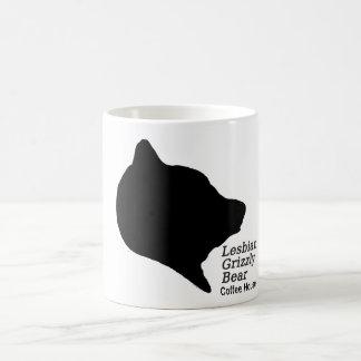 Lesbisches Grizzlybär-Café Kaffeetasse