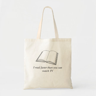 Lesebuch-Tasche las ich schneller als Sie Uhr Tragetasche