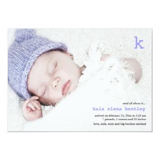 Lesen Sie alle über es Foto-Geburts-Mitteilung Karte