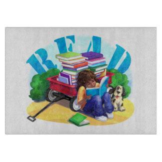 LESEN Sie Buch-Lastwagen-Kunst Schneidebrett