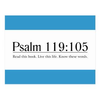 Lesen Sie das Bibel-Psalm-119:105 Postkarte