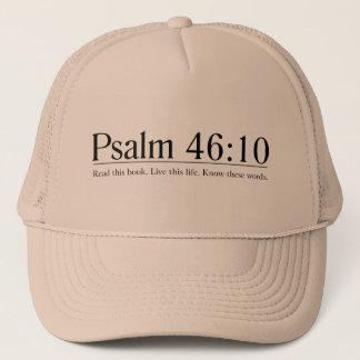 Lesen Sie das Bibel-Psalm-46:10 Truckerkappe