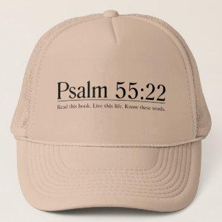 Lesen Sie das Bibel-Psalm-55:22 Truckerkappe