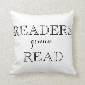 Leser, die gehen, Wurfs-Kissen zu lesen Kissen