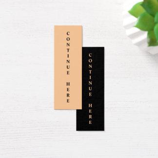 Lesezeichen fahren hier fort mini visitenkarte