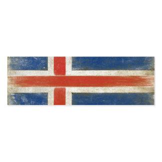 Lesezeichen-Karte mit beunruhigter Flagge von Mini-Visitenkarten