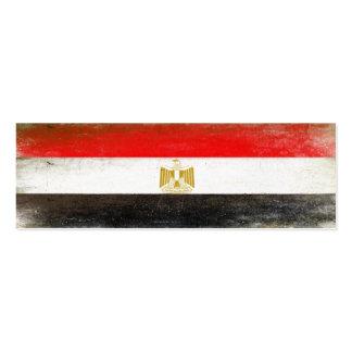 Lesezeichen-Karte mit cooler Flagge von Ägypten Mini-Visitenkarten