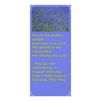 Lesezeichen mit Gedicht Emilys Dickinson Werbekarte