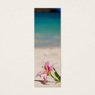 Lesezeichen-Strand-Lilie Mini Visitenkarte