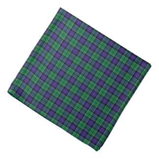 Leslie-Clan-Jagdtartan-grünes und blaues kariertes Kopftuch