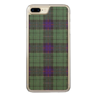 Leslie-Clan karierter schottischer Tartan Carved iPhone 8 Plus/7 Plus Hülle