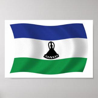 Lesotho-Flaggen-Plakat-Druck Poster
