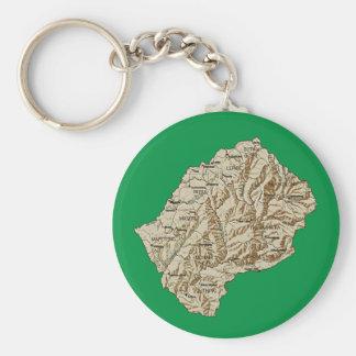 Lesotho-Karte Keychain Schlüsselanhänger