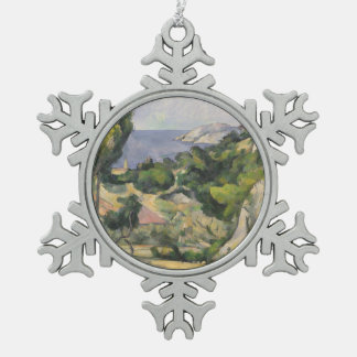 L'Estaque Schneeflocken Zinn-Ornament