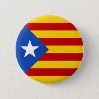 """L'Estelada Blava"" katalanische Runder Button 5,7 Cm"