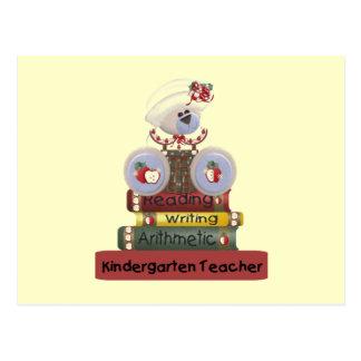 Lesung, Schreiben, arithmetische Kindergärtnerin Postkarte
