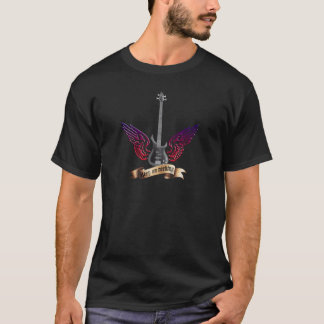 let the world rock electric bass guitar T-Shirt