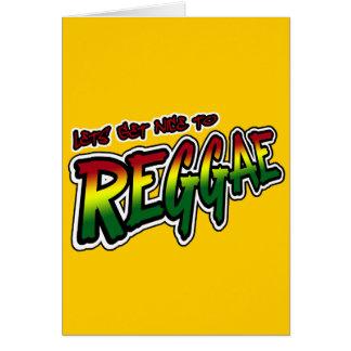 Lets erhalten zur REGGAE Tollpatsch Dubstep Reggae Grußkarte