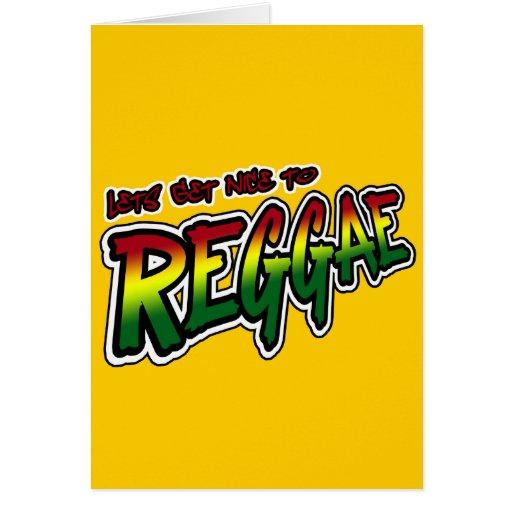Lets erhalten zur REGGAE Tollpatsch Dubstep Reggae Karten