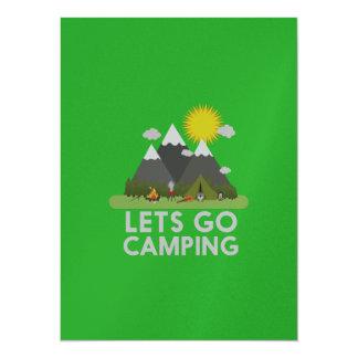 Lets gehen Camping 14 X 19,5 Cm Einladungskarte
