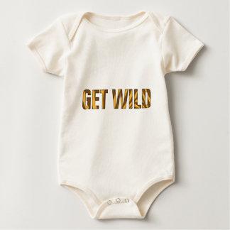 let's get wild baby strampler