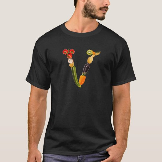 "letter ""V"" of fruits and vegetables T-Shirt"