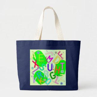 Letters colorful jumbo stoffbeutel