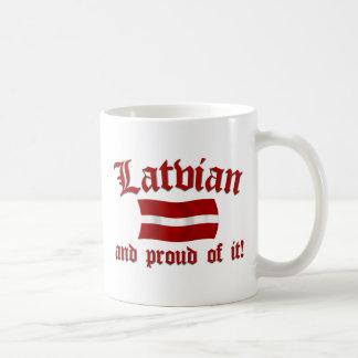 Lettisch und stolz auf es kaffeetasse