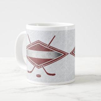 Lettische Hockey-Flaggen-Logo-Tasse Extragroße Tassen