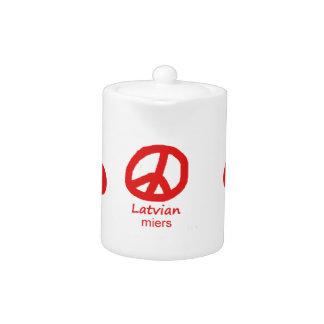 Lettische Sprache und Friedenssymbol-Entwurf