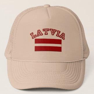 Lettland-Flagge 2 Truckerkappe