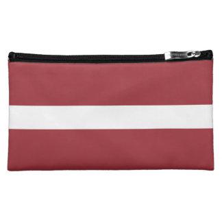 Lettland-Flagge Cosmetic Bag