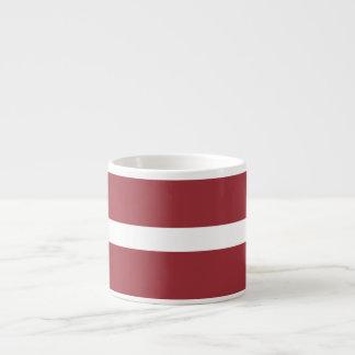 Lettland-Flagge Espressotasse