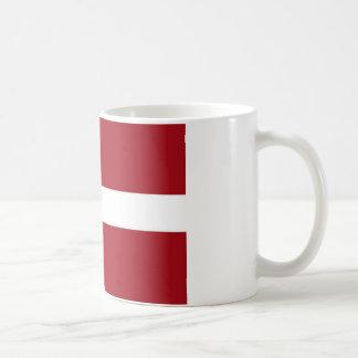 Lettland-Flagge Kaffeetasse