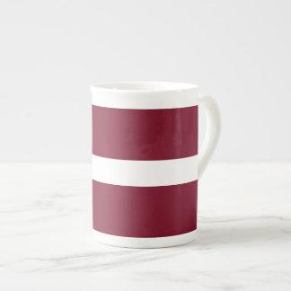 Lettland-Flagge Porzellantasse