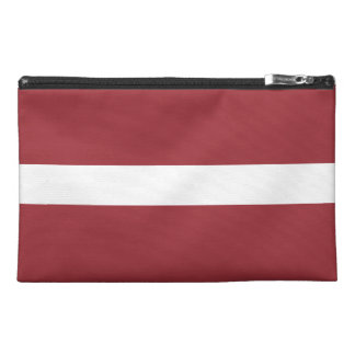 Lettland-Flagge Reisekulturtasche