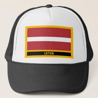 Lettland-Flagge Truckerkappe