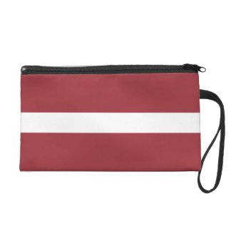 Lettland-Flagge Wristlet