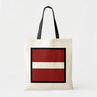 Lettland-Flaggen-Tasche Tragetasche